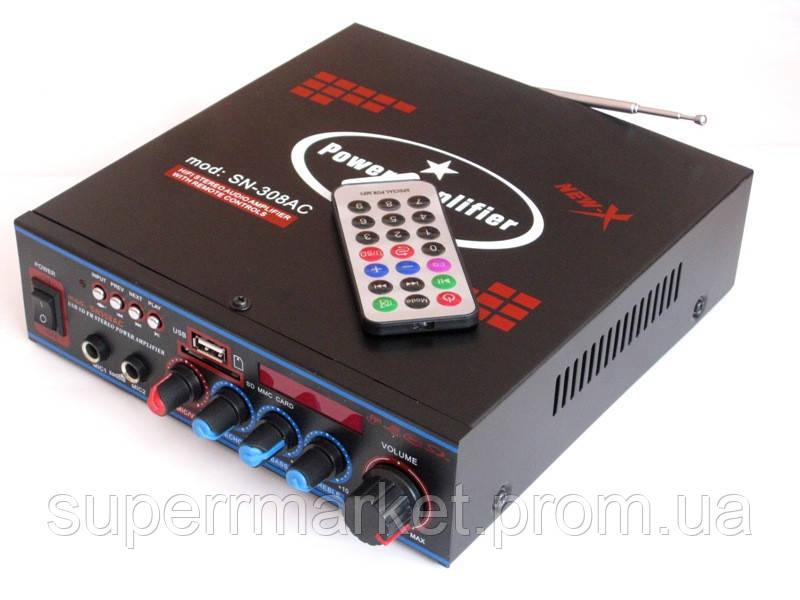 Стерео усилитель UKC SN-308BT c Karaoke и bluetooth