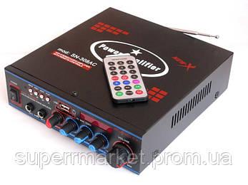 Стерео усилитель UKC SN-308BT c Karaoke и bluetooth, фото 2