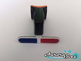 Задній ліхтар для велосипеда червоно-синій.Зарядка від USB.