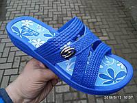 Шлепанцы женские сланцы оптом Прогрес 128 синие