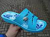 Шлепанцы женские сланцы оптом Прогрес 128 голубые