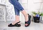 Женские босоножки черного цвета, из натуральной кожи 37 ПОСЛЕДНИЙ РАЗМЕР, фото 7