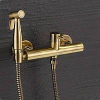 Гигиенический настенный душ со смесителем Art Design 023 Бронза