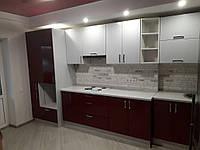 Кухня бордовая , фото 1