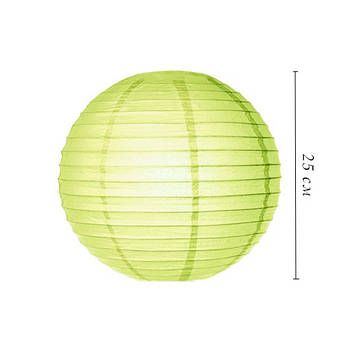 Подвесные бумажные шары плиссе 25 см