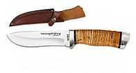 Нож охотничий 2264 BL. Рукоять - береста,охотничьи ножи,товары для рыбалки и охоты,оригинал