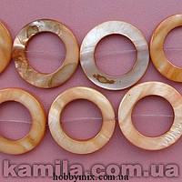 Бусина перламутр оранжевый круглая (2,4*2,4 см) 16 шт