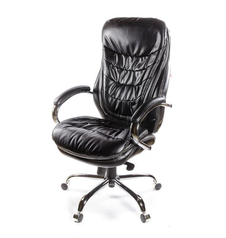 Кресло Валенсия Soft • АКЛАС • CH MB кожа чёрный, коричневый, бежевый, белый