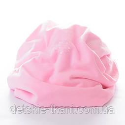 Плюшевый материал розового цвета, ровный, без пупырышек, М-69