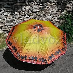 Большой пляжный зонт зонтик с напылением 150 см диаметр 180 см высоты оранжево желтый
