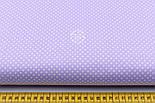 """Лоскут ткани """"Пунктирный горошек"""" белый на сиреневом №1933, фото 3"""