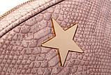 Сумка клатч жіночий в стилі Stella McCartney Stella Star із зіркою (рожева), фото 5