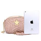 Сумка клатч жіночий в стилі Stella McCartney Stella Star із зіркою (рожева), фото 3