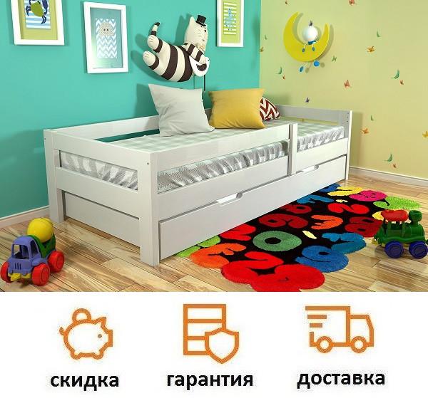Детская кровать из дерева Альф, фабрика Арбор Древ