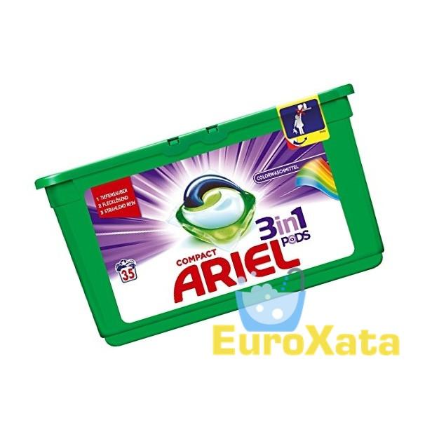 Капсулы для стирки Ariel 3in1 Pods Colorwaschmittel (35шт) для цветного белья (Германия)