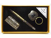 MTC-103 Набор MOONGRASS: ручка + брелок + зажигалка, Подарочный набор под бронзу, Сувенир,Подарок