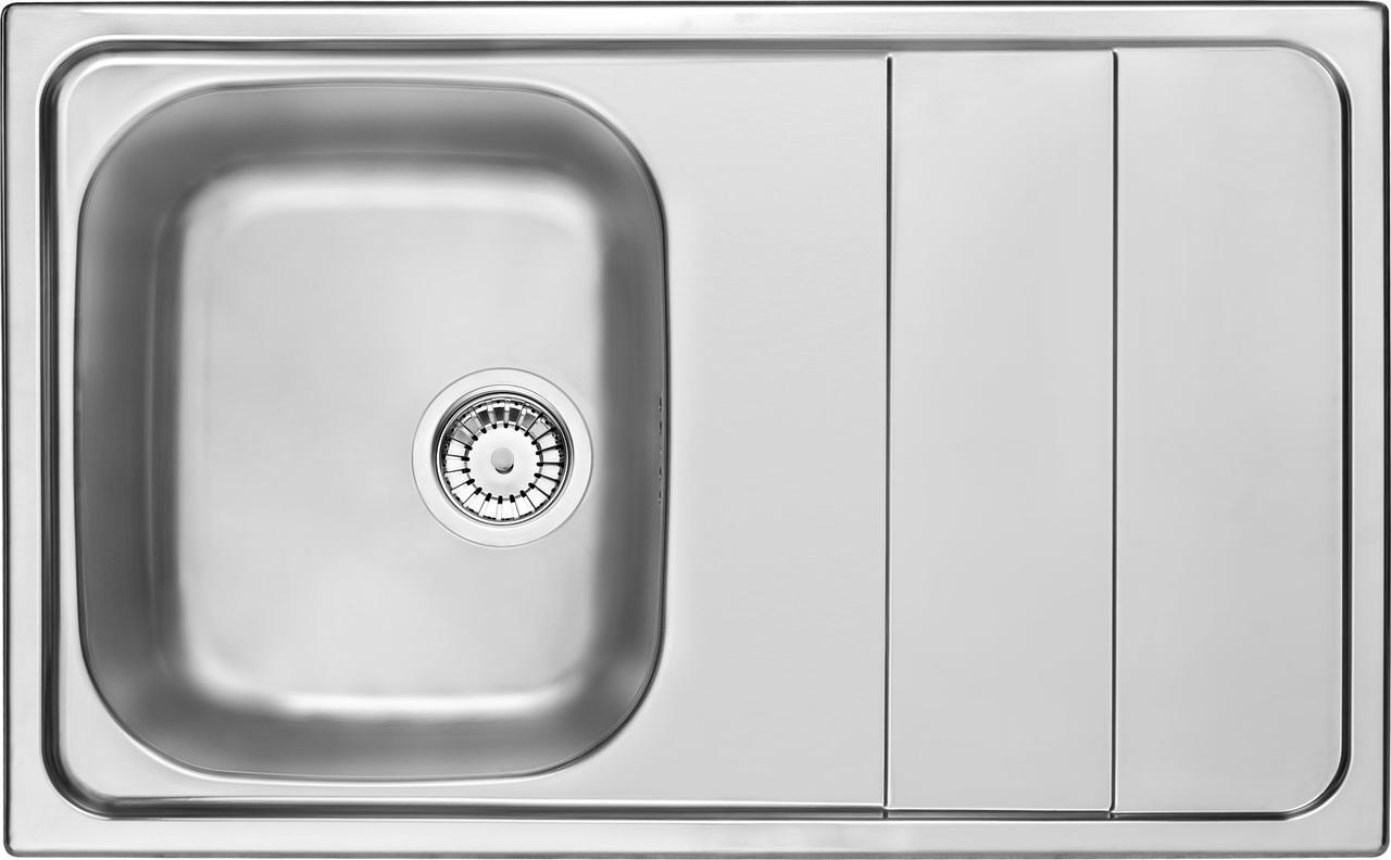 Кухонная мойка Deante MAESTRO 1-камерная оборотная, с крылом, сатина, 800х500х190 мм