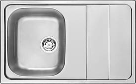 Кухонна мийка Deante MAESTRO 1-камерна оборотна, з крилом, сатину, 800х500х190 мм