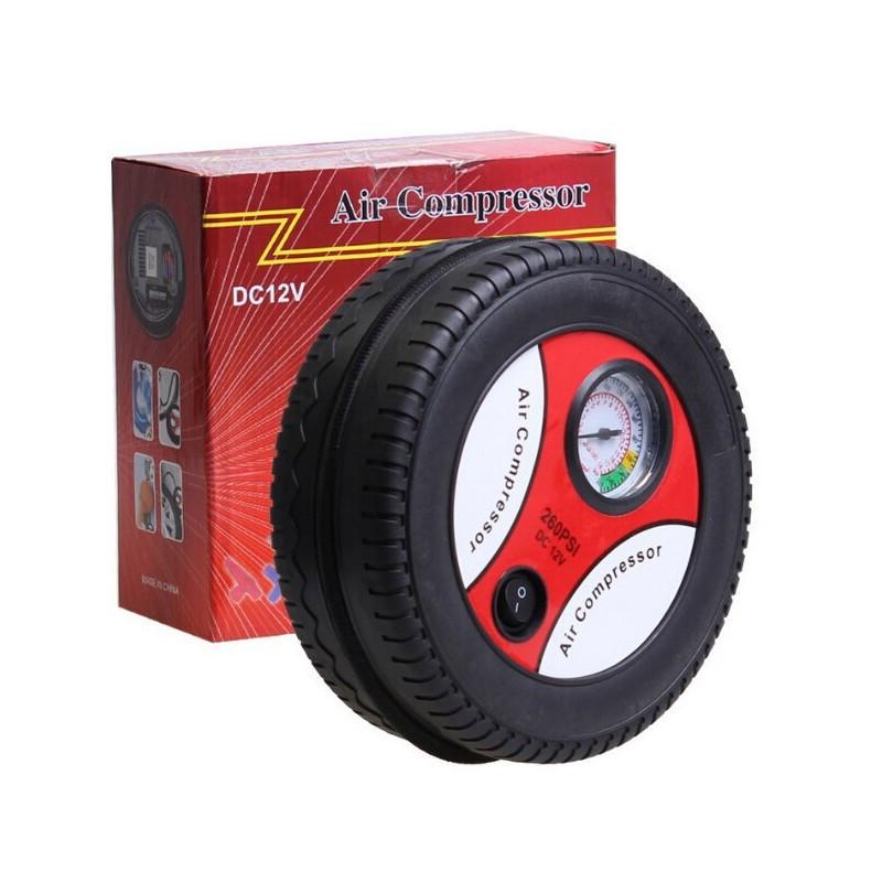 Автомобильный насос компрессор Air Compressor DC-12V, Компрессор красный air compressor (red), Насос для авто