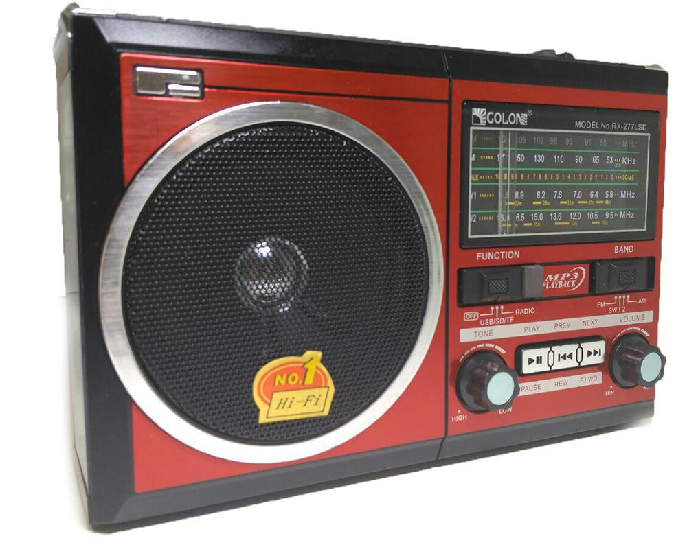 Радио RX 277 LED+LCD+Solar, Портативное радио, Портативный приемник, Фм приемник, Радиоприемник с usb
