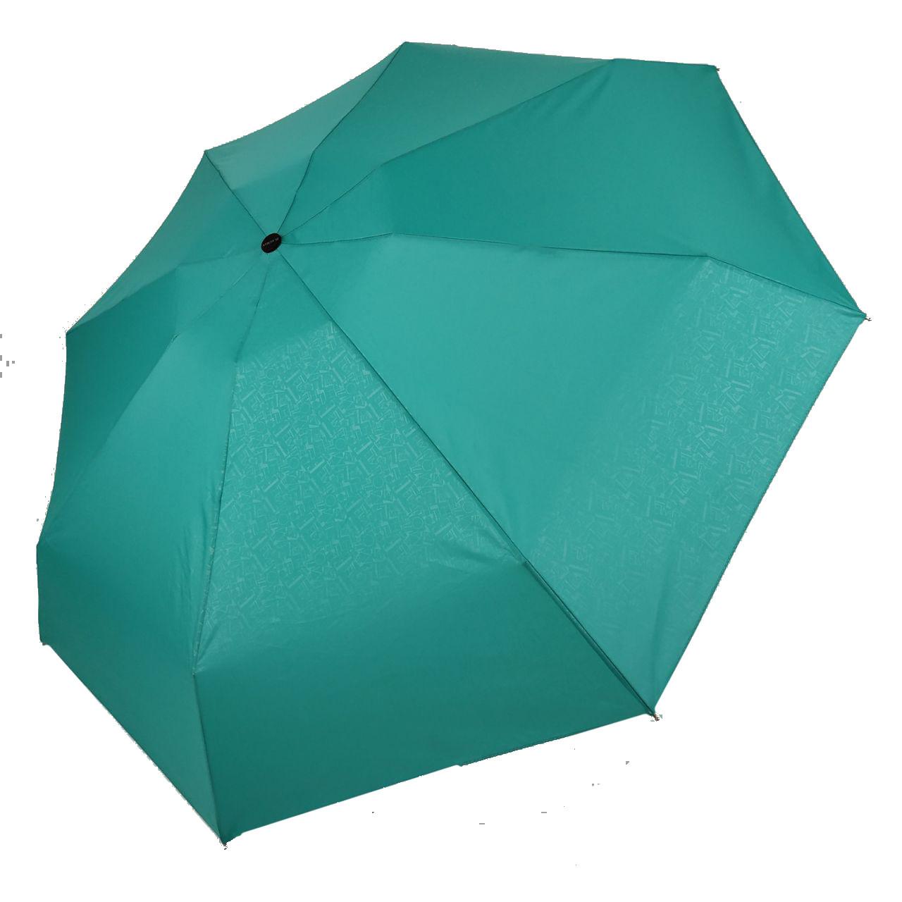 """Женский механический мини-зонт Flagman """"Малютка"""", бирюзовый / голубой, 504-8"""
