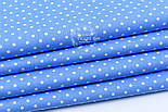 Лоскут ткани с горошком 4 мм на тёмно-голубом, №1686, размер 41*80 см, фото 2