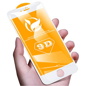 ✅ Защитное стекло 9D для iPhone 7/8 белый