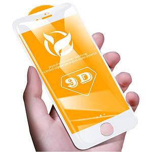 Защитное стекло 9D для iPhone 7/8 белый