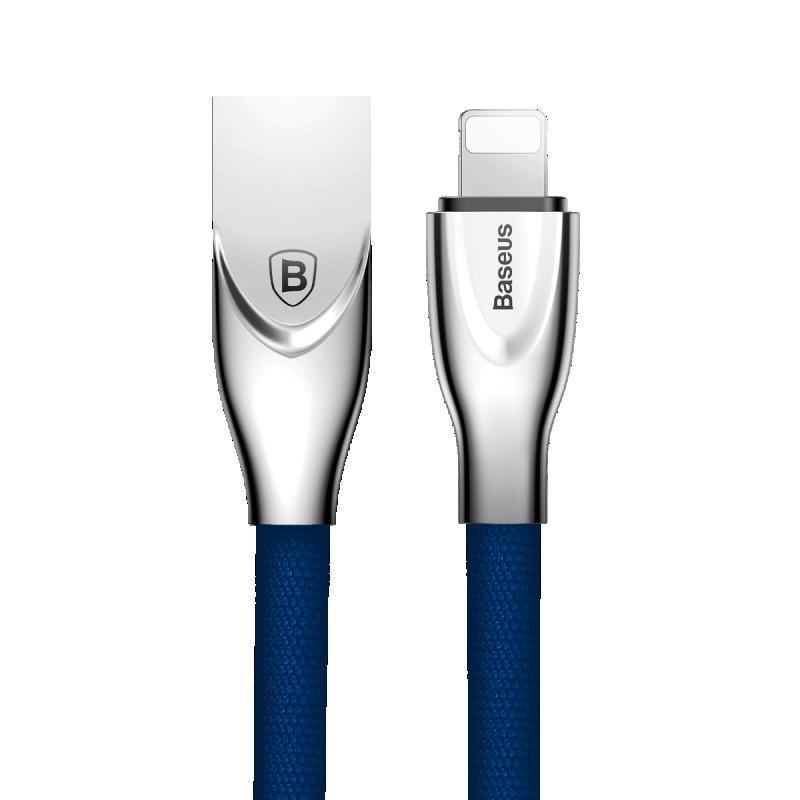 USB кабель Baseus Lightning (Zinc Alloy) 2.0A (1m) синий