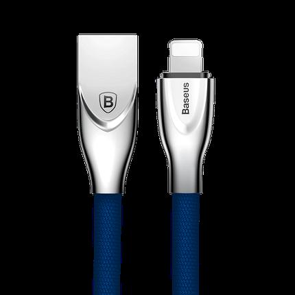 USB кабель Baseus Lightning (Zinc Alloy) 2.0A (1m) синий, фото 2