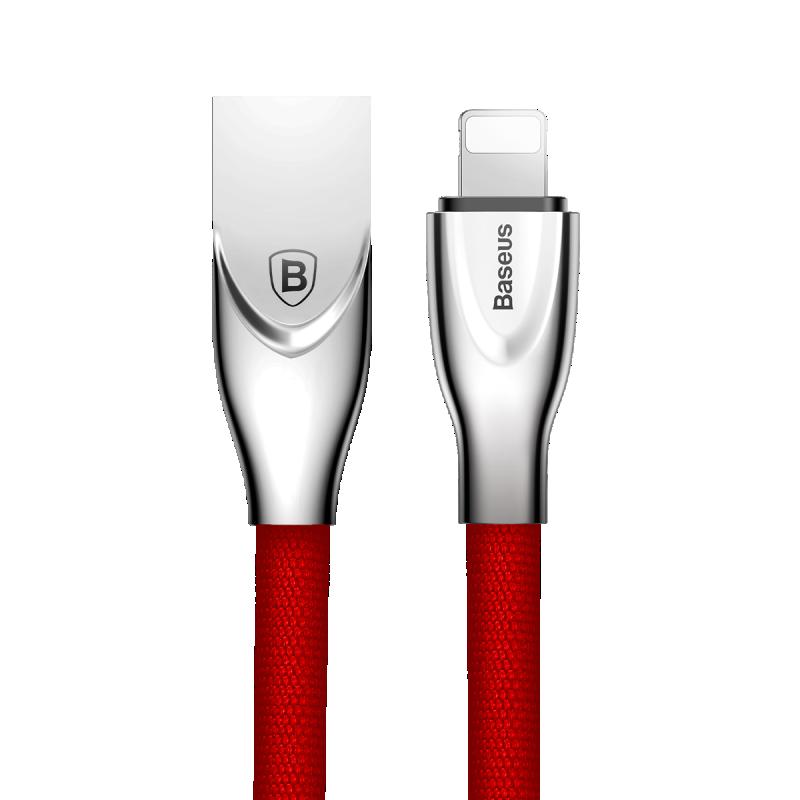 USB кабель Baseus Lightning (Zinc Alloy) 2.0A (1m) красны