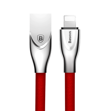 ✅ USB кабель Baseus Lightning (Zinc Alloy) 2.0A (1m) красны, фото 2