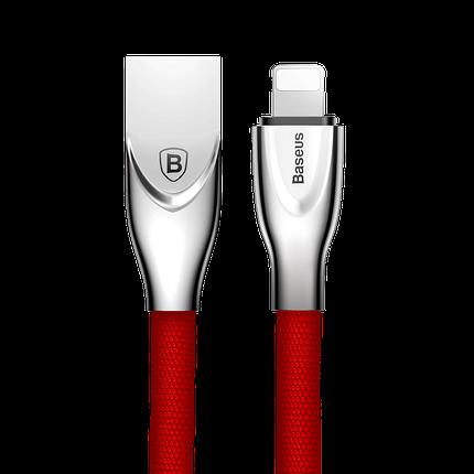 USB кабель Baseus Lightning (Zinc Alloy) 2.0A (1m) красны, фото 2