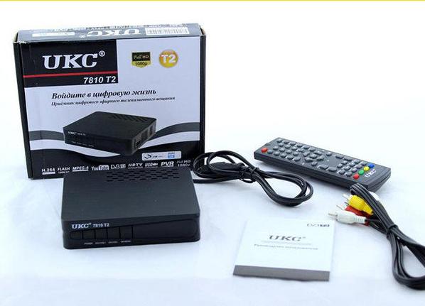 Тюнер DVB-T2 7820  с поддержкой  wi-fi адаптера, Цифровой тюнер для эфирного телевиденья, Цифровой ресивер