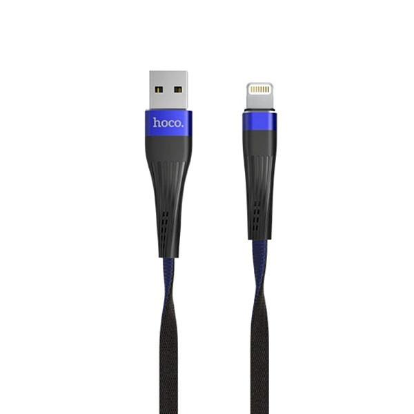 ✅ USB кабель HOCO U39 Slender Lightning 1,2m. Black/Blue