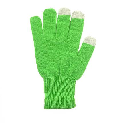 ✅ Перчатки iTouch для сенсорных экранов Lime Green, фото 2