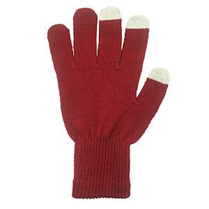✅ Перчатки iTouch для сенсорных экранов Dark Red
