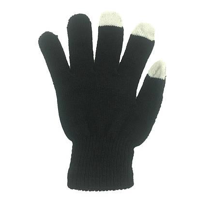 ✅ Перчатки iTouch для сенсорных экранов Black, фото 2