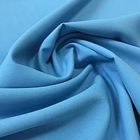 Габардин однотонный голубой, ширина 150 см, фото 1