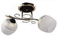 Люстра потолочная на 2 лампочки (25х22х45 см.) Хром или золото YR-7140/2B-gd, фото 1