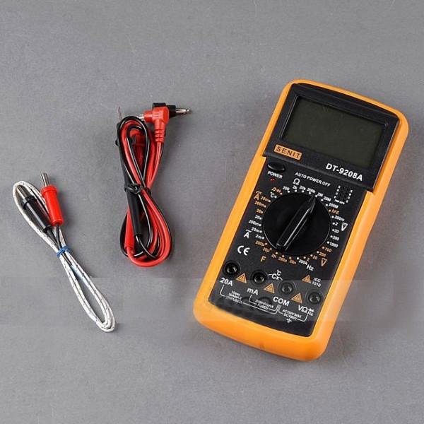 Мультиметр DT 9208,Тестер вольтметр амперметр, Цифровой профессиональный мультиметр,Тестер многофункциональный