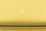 """Лоскут ткани """"Пунктирный горошек"""" белый на жёлтом №1935, размер 31*80 см, фото 2"""