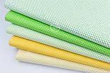 """Лоскут ткани """"Пунктирный горошек"""" белый на жёлтом №1935, размер 31*80 см, фото 3"""