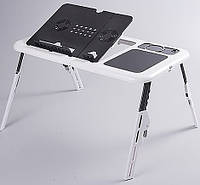 Подставка LD 09 E-TABLE, Многофункциональный столик для ноутбука, Столик кулер, Подставка с охлаждением, фото 1