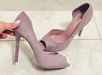 Женские туфли цвет сирени