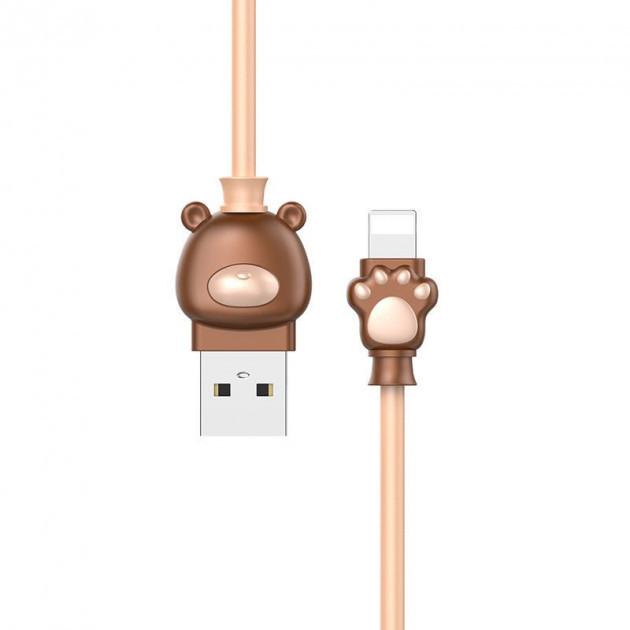 ✅ USB кабель Baseus Lightning Bear 2A 1M (coffee-khaki)