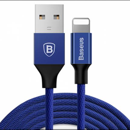 ✅ USB кабель Baseus Lightning Yiven 2A (1,2m) navy blue, фото 2