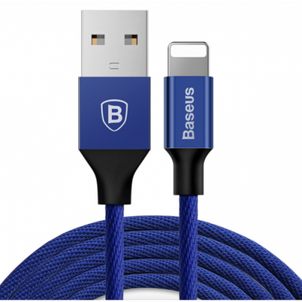USB кабель Baseus Lightning Yiven 2A (1,2m) navy blue, фото 2
