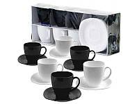 Сервиз 12 предметов Carine Black&White Luminarc