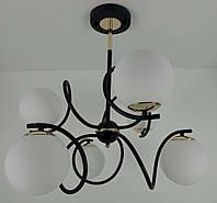 Люстра потолочная на 6 лампочек (62х58х58 см.) Золото, венге YR-1397/3+3, фото 1